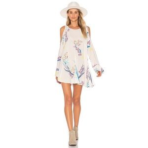 Free People Clear Skies Printed Tunic In Neutral